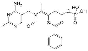 Структурная формула Бенфотиамина, C19H23N4O6PS