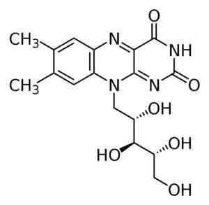 Структурная формула Рибофлавина (витамин В2) C17H20N4O6