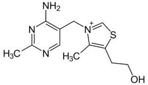 Структурная формула Тиамина, C12H17N4OS+